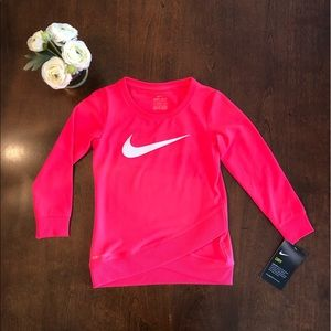 NWT Nike Hot Pink Long Sleeve Dri-Fit